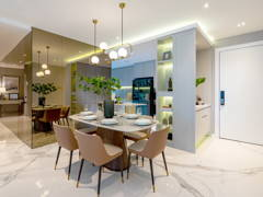 Contemporary Modern Dining Room@Contemporary Luxe Dwelling