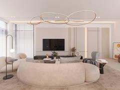 Modern Zen Living Room@Empire Residence