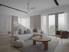 Modern Zen Foyer Living Room@LIVING CURVE - Sentul, Kuala lumpur