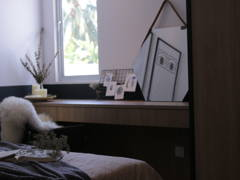 Minimalistic Scandinavian Bedroom Study Room@King Ong House