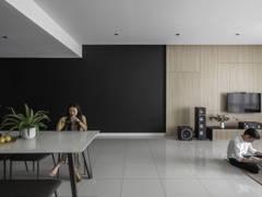 """Minimalistic Zen Dining Room Living Room@""""The MINUTIAE - Condominium"""