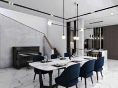 Contemporary Modern Dining Room@Terima Qaseh 3