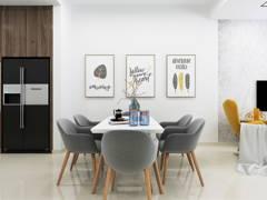 Contemporary Scandinavian Dining Room@LIVIA RESIDENCE, BANDAR RIMBAYU