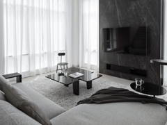Contemporary Minimalistic Family Room Living Room@THE GLADES - Bungalow, Subang jaya