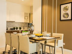 Contemporary Modern Kitchen Living Room@Sky Condo Puchong, Type C