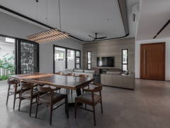 Asian Contemporary Dining Room Living Room@Hunter Douglas Exclusive Suites