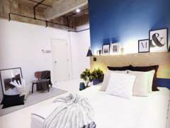 Contemporary Retro Bedroom@Henry Goulding home