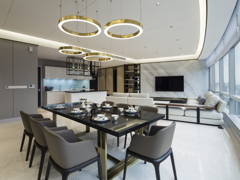 Contemporary Modern Kitchen Living Room@Banyan Tree Signatures
