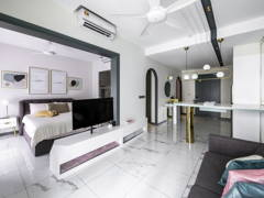 Contemporary Modern Dining Room Living Room@GEOSENSE CONDOMINIUM- Sunway South Quay
