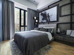 Contemporary Rustic Bedroom@Sentral Suites Type B