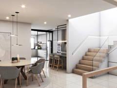 Contemporary Zen Dining Room@Taman Desa 3 Storey Terrace