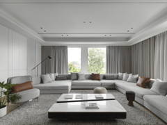 Minimalistic Modern Living Room@CENTRE OF ATTENTION - Bungalow, Seremban 2