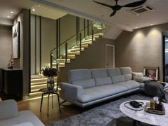 Contemporary Modern Living Room@Indah Residences Kota Kemuning Corner Terrace