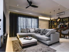 Contemporary Modern Living Room Dining Room@Segambut