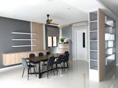 Modern Zen Dining Room@Project R22