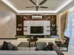 Contemporary Living Room@Scenaria Residence Townhouse