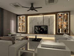 Contemporary Modern Living Room@3 Storey Bungalow @ KL