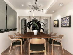 Modern Dining Room@AIM POINT CONDO, BANTING