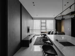 Contemporary Modern Dining Room Living Room@526 SQFT - Soho, KL