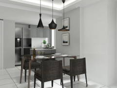 Contemporary Dining Room@Refurbish old apartment