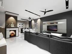 Modern Foyer Living Room@TAMAN CONNAUGHT, CHERAS KUALA LUMPUR