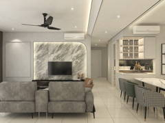 Minimalistic Scandinavian Dining Room Living Room@Blend of Modern Design with Classic Charm