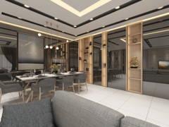 Contemporary Modern Dining Room Living Room@Modern Terrace @ Damai Impian