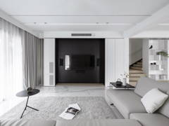 Contemporary Zen Living Room@The impact of white - Double Storey, Desa parkcity