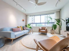 Contemporary Minimalistic Living Room@Mont Kiara Pines Condo