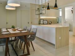 Minimalistic Scandinavian Dining Room Kitchen@Seringin Residences, Kuchai Lama