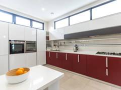 Contemporary Minimalistic F&B Kitchen@Modern bungalow at Sungai Long, Selangor