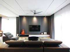 Contemporary Living Room@Ayu Residence