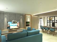 Contemporary Living Room@Semi-D @ Subang SS14