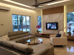 Contemporary Modern Living Room@Project Idaman
