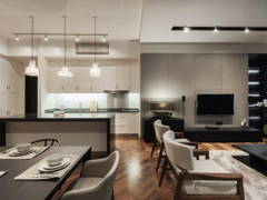 Contemporary Dining Room Living Room@MASCULINE
