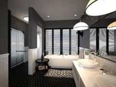 Contemporary Modern Bathroom@Bayu Villa Bungalow