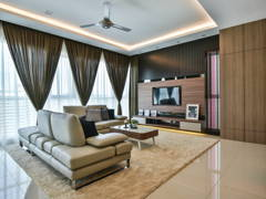 Contemporary Modern Living Room@Uptown Residences