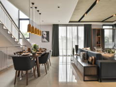 Contemporary Dining Room Living Room@Flexi @ TwentyFive.7