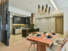Contemporary Modern Dining Room Kitchen@Uptown Residences