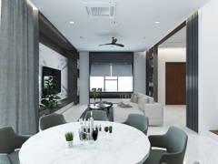 Contemporary Modern Dining Room Living Room@TAMAN MULIA, BANTING