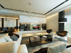 Classic Modern Family Room@Taman Lake View House