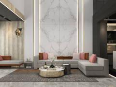 Contemporary Modern Living Room@Crystal and Obsidian @ Taman Setiawangsa, Kuala Lumpur