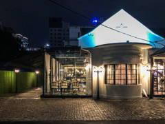 Minimalistic Retro Exterior Foyer@Flour Restaurant