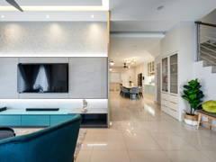 Contemporary Modern Foyer Living Room@Taman Desiran Bayu