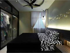 Contemporary Modern Bedroom@Midfields