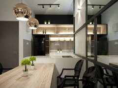 Contemporary Modern Dining Room Kitchen@IOI Zentro Residence