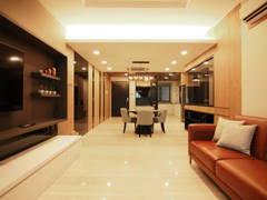 Contemporary Modern Dining Room@De Pine 4