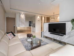 Contemporary Modern Kitchen Living Room@Sky Realm @ Sky Condominium, Puchong