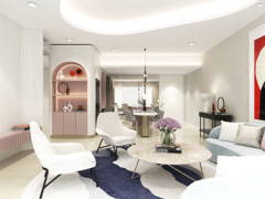 Contemporary Living Room@Whimsical Dwelling - Seringin Residences, PJ