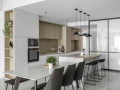 """Scandinavian Zen Dining Room Kitchen@""""The MINUTIAE - Condominium"""